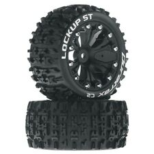 NEW Duratrax Traxxas Rustler Stampede Lockup ST Mounted Rear Tires/Wheels DTX...