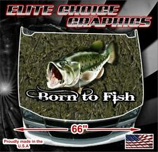 Born to Fish Camo Vinyl Hood Wrap Bonnet Decal Sticker Graphic