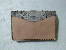 Handmade Genuine Python Leather Card Wallet, Card Holder, Business Card