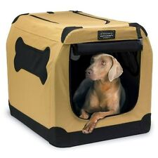 Portable Dog Crate Large Pet Carrier Animal Kennel Travel Crate Cage Bed Cushion
