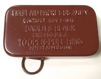 WWI WWII US M1910 FIRST AID CARLISLE BANDAGE TIN-