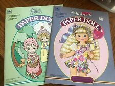 Golden Uncut paper doll book lot Precious Moments and Lil Miss 'n Me