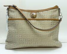 Tommy Hilfiger 6935578-235 Hobo Shopper Shoulder Handbag Monogram Beige/Brown
