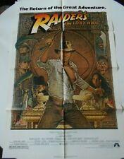 Raiders of the Lost Ark R1982 original movie poster Harrison Ford Indiana Jones