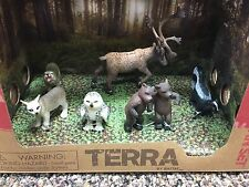 Terra North American Wild Animals  Forest Figures Play Set Toys Box by BATTAT