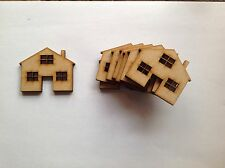 Wooden Craft Shapes 10 X Houses