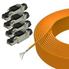 Netzwerk Set 100 m Cat.7 SFTP Ethernet Installtions kabel & 4x LAN RJ45 Stecker