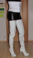 Overknee Stiefel 42 Kassiopeya 3281 Weiß Plateau Boots Reißverschluss Zip