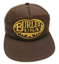 BURLEY USA vintage brown hat adjustable snapback cap - Made in USA!