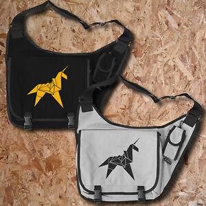 Origami Licorne Sacoche Vintage Style Lame Ordinateur Portable Un Ruban Runner