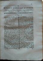 1794 PRIMA IDEA DELLO STANTUFFO A VAPORE, STORIA NATURALE FISICA CHIMICA....