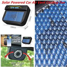 Black Solar Powered Car Auto Air Vent Cooling Fans Window Ventilation Universal