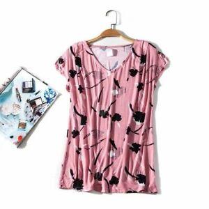 Ladies Loose Fit Summer Short Sleeves T-Shirt Top Sz 10, 12 &14 Brand New
