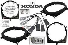 2 Pairs Sahr6 2006 -Up Honda Ridgeline / Fit Speaker Adapter And Wiring Harness