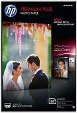 HP premium plus (10 x 15cm) BRILLO Imágenes Papel fotográfico (50 hojas) (Blanco