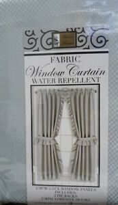 """Better Home Fabric Window Curtain 36"""" x 54"""" Gray With Tie Backs and Hooks"""