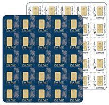 25 X 1 Gram Divisible PAMP Suisse MULTIGRAM Gold Bar