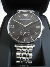EMPORIO ARMANI AR1676 CLASSIC WATCH STAINLESS STEEL BRACELET BNWT GENUINE