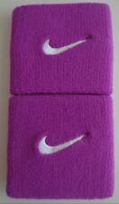 "Nike Swoosh Wristbands 3"" Sport Bold Berry/White Mens Women's Osfm"