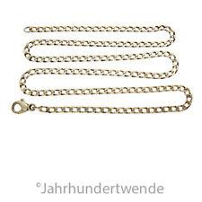 Vintage Panzer Halskette 925er Sterling Silber vergoldet Karabiner silver 🍀🍀🍀