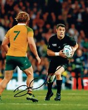 Dan CARTER Signed Autograph 10x8 Photo f AFTAL COA RUGBY All Blacks New Zealand