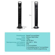 Turmventilator Oszillationsfunktion Standventilator 40W 78cm Oszillation