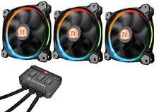 Thermaltake Riing 12 RGB Led 256 colores 120mm (x3) - ventilador