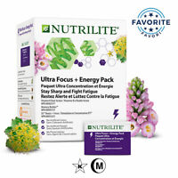 Amway Nutrilite™ Ultra Focus Energy Pack Fight Fatigue Memory Support 20 Pkt NEW