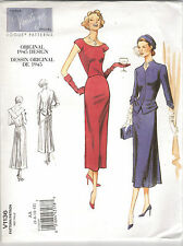 Vogue Sewing Pattern 1136, Retro 1950 Jacket and Dress,  Sizes 14 - 20, New