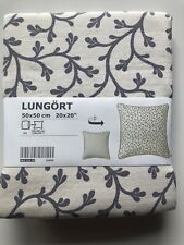 "Ikea LUNGÖRT LUNGORT Pillow Cushion Cover 20"" x 20"" Grey/White (1 pc) - NEW"