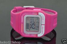 SDB-100-4A Pink Casio Watches Ladies Stopwatch Day Date Resin Band Brand-New