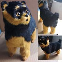Realistic Yorkie Dog Cute Handmade Simulation Toy Dog Puppy Lifelike Stuffed Toy