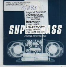 (BX886) Supergrass, Pumping On Your Stereo - 1999 DJ CD