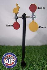 4 oggetti di metallo su 2 DOPPIO ACCIAIO Spinners AIR RIFLE SHOOTING plinking * pk03