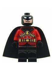 Custom Minifigure Red Robin Superhero (Batman) Printed on LEGO Parts