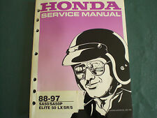 Honda 87-97 SA50 SA50P Elite LX / SR / S /  50 50cc Service Shop Repair Manual
