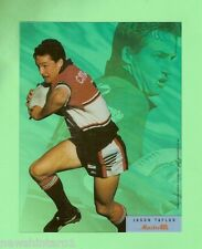 #D57.  LARGE RUGBY LEAGUE ACETATE MASTERCEL CARD - JASON TAYLOR, NORTH SYDNEY