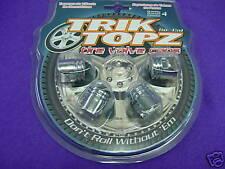 Trik Topz Tyre Valve caps  CHROME PISTON design
