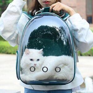 Transparent Pet Backpack Cat Rusksack Portable Pet Bag Breathable Carry Dog Bag
