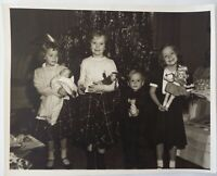 "Vintage 1950 Photograph of Children with Dolls Effanbee Alexander Ideal 8""x 10"""