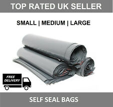 Grey Mailing Bags Strong Poly Postal Postage Post Mail Self Seal All Sizes -MBAG