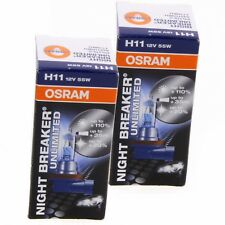 2x H11 OSRAM Night Breaker Unlimited 110% mehr Licht 64211NBU Set