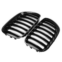 1Pair Gloss Black Car Front Kidney Grill Grilles For X5 E53 2004 2005 2006 M7P7