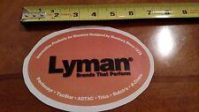 Lyman Reloading Orange Colored OEM Original Vinyl Decal Sticker