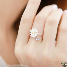 The New Yellow Small Fresh Daisy Flower Ring Jewelry Women For Gift