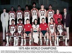 1974 - 75 ABA Kentucky Colonels World Champion Team Picture Color 8 X 10 Photo