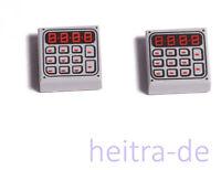 LEGO - 2 x Fliese 1x1 hellgrau mit Tastatur und Display / 3070bpb089 NEUWARE (e3