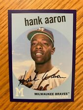 Hank Aaron 2018 Topps Archives Purple Boarder #1 Milwaukee Braves 132/175
