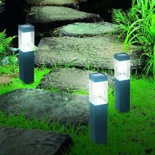 Solarleuchte Garten 3er Set Edelstahl Solarlampen LED Wegbeleuchtung Solarlampe