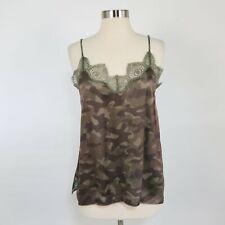 CAMI NYC Camisole Silk Tank Top The Cadence M Medium NEW Camo Print Brown Olive